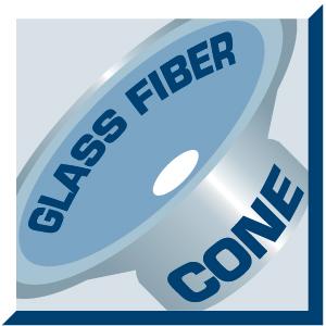 kónusz: glass fiber