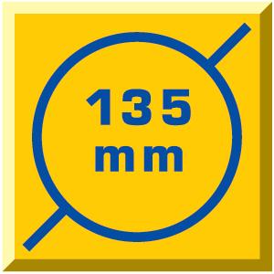 átm: 135 mm